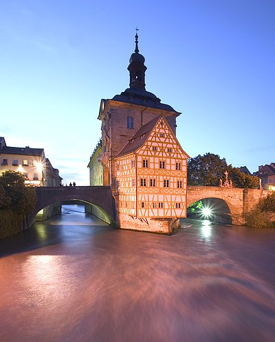 The Old Town Hall in the middle of the River Regnitz