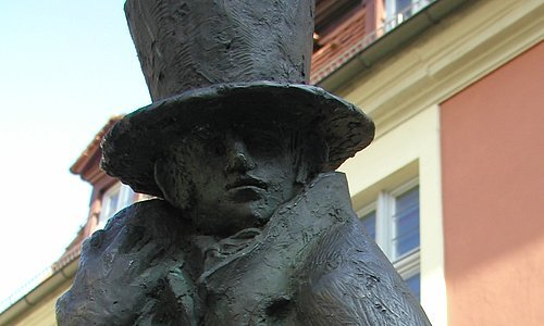E.T.A. Hoffmann monument in Bamberg