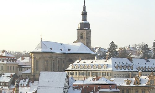 View of the Stephan's church in winter