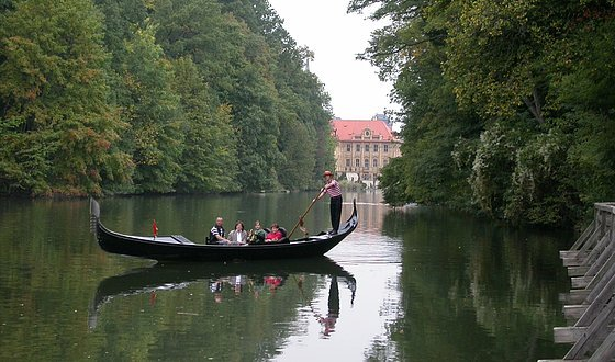 Romantic trip through Bamberg by gondola